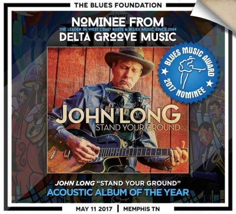 The Blues Foundation 2017 Nominee Accoustic album of the year